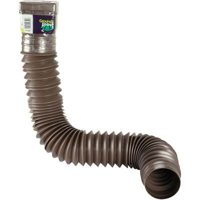 Spectra Metals Ground Spout 22 In. to 48 In. Brown K-Style Polypropylene Downspout Extender