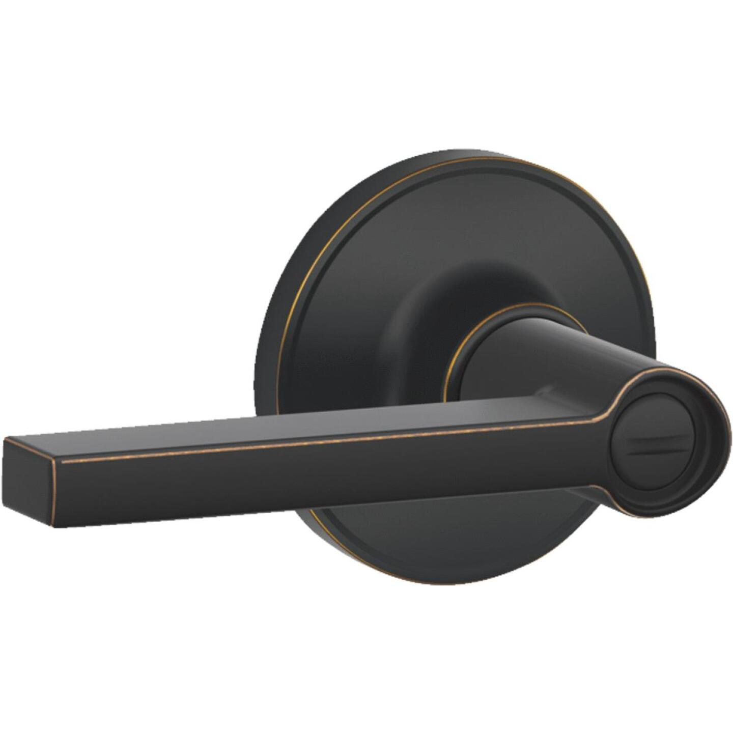 Dexter Solstice Aged Bronze Privacy Door Lever Lockset Image 1