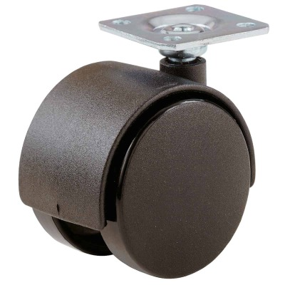 Do it 2 In. Black Twin Wheel Plate Caster (2-Pack)