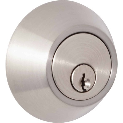 Steel Pro Brushed Nickel Single Cylinder Deadbolt