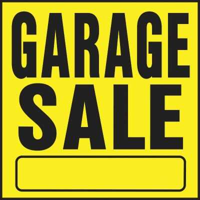 Hy-Ko Heavy Gauge Plastic Sign, Garage Sale