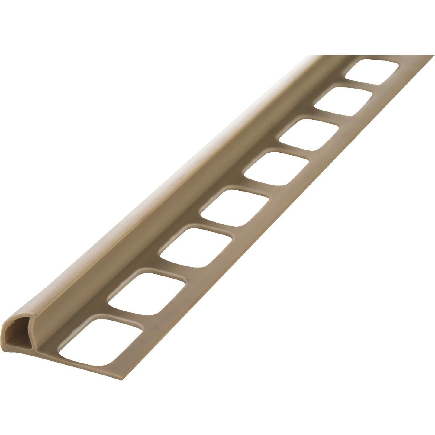 M D Building Products 5/16 In. x 8 Ft. Beige PVC Bullnose Tile Edging Image 1