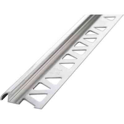 M D Building Products 3/8 In. x 8 Ft. Bright Clear Aluminum Bullnose Tile Edging