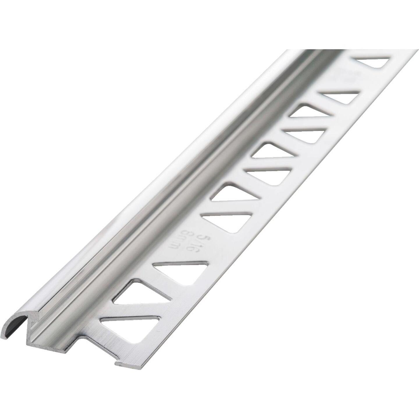M D Building Products 5/16 In. x 8 Ft. Bright Clear Aluminum Bullnose Tile Edging Image 1
