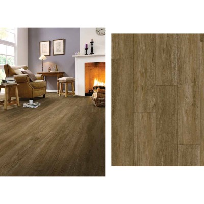 Mohawk Design Elements Walnut Mocha 6 In. W x 48 In. L Luxury Vinyl Rigid Core Floor Plank (24.11 Sq. Ft./Case)