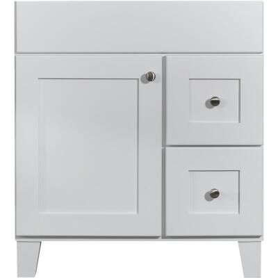 Bertch Osage White 30 In. W x 34-1/2 In. H x 21 In. D Vanity Base, 1 Door/2 Drawer