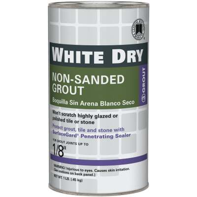 Custom Building Products White Dry 1 Lb. White Non-Sanded Tile Grout