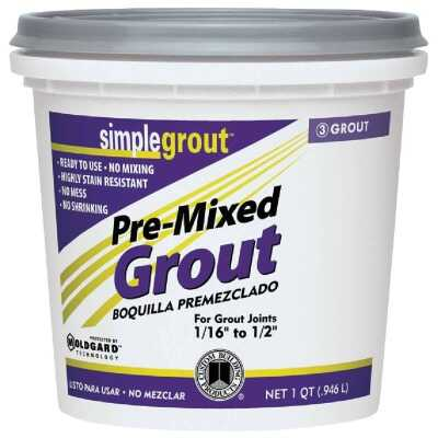 Custom Building Products Simplegrout Quart Linen Pre-Mixed Tile Grout