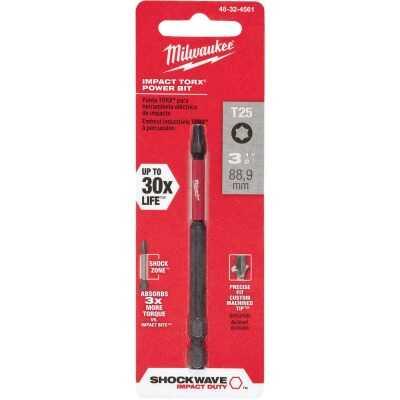 Milwaukee Shockwave T25 TORX 3-1/2 In. Power Impact Screwdriver Bit