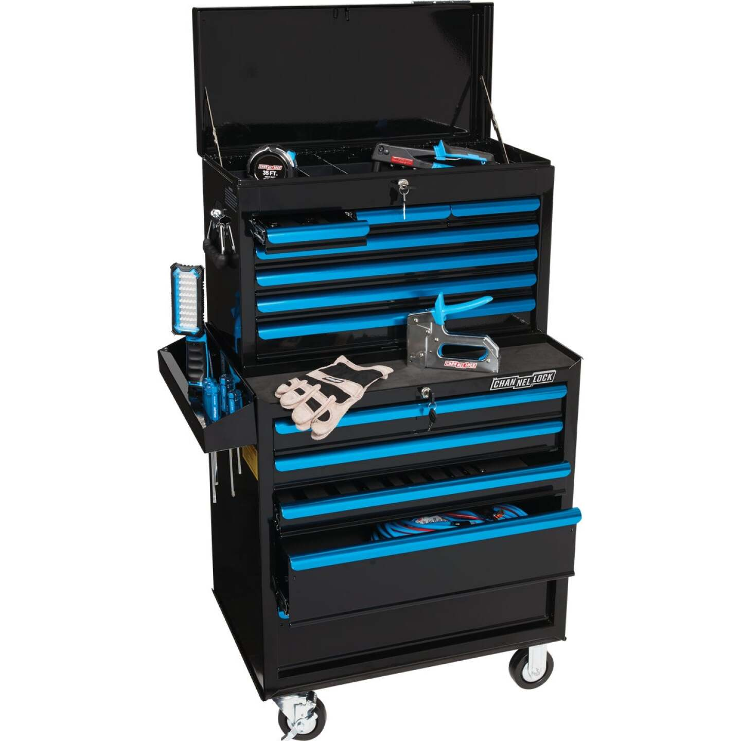 Channellock 26 In. 7-Drawer Black and Blue Tool Chest Image 2