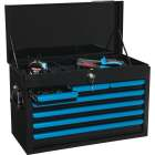 Channellock 26 In. 7-Drawer Black and Blue Tool Chest Image 3