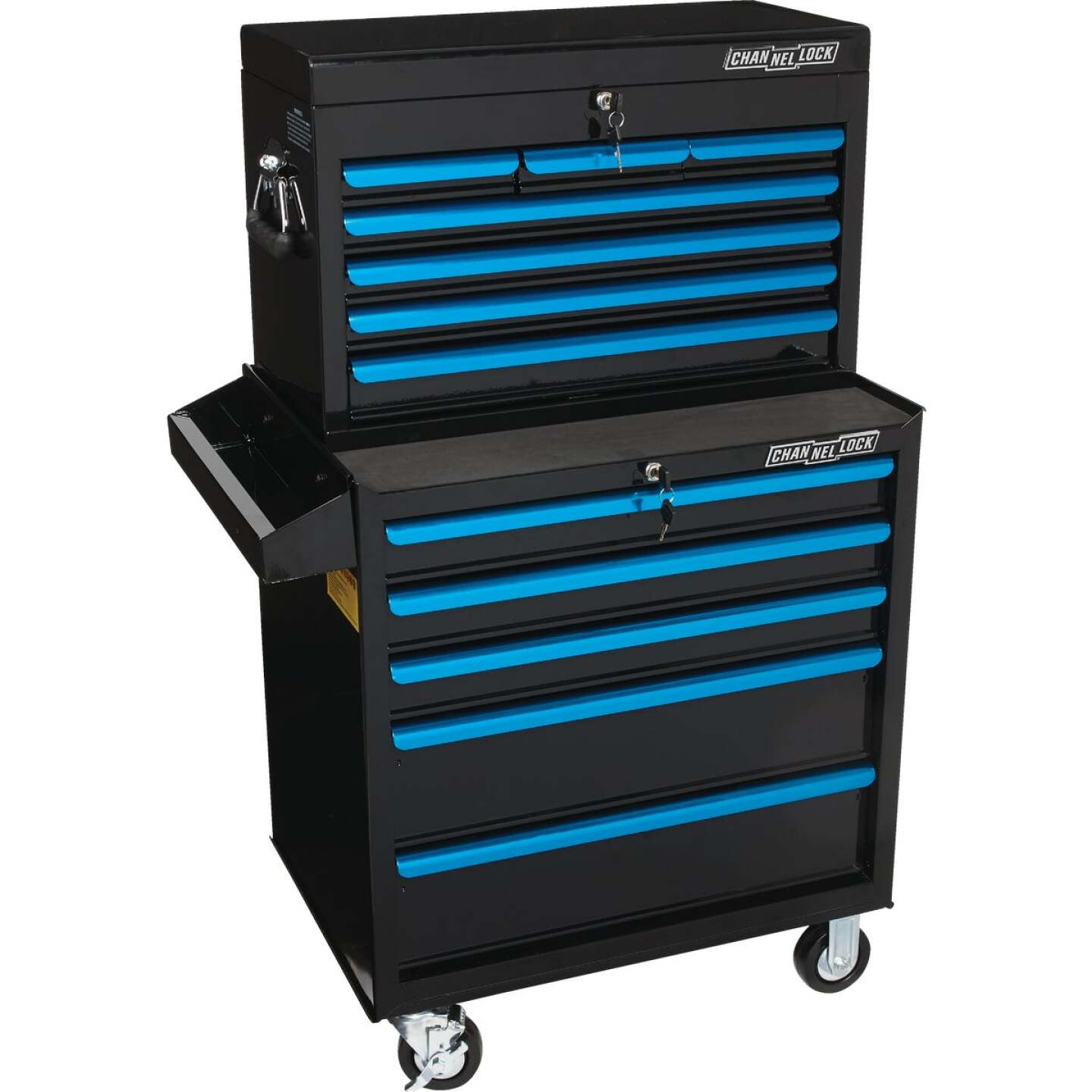 Channellock 26 In. 7-Drawer Black and Blue Tool Chest Image 4