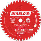 Diablo 6-1/2 In. 40-Tooth Finish/Plywood Circular Saw Blade, Bulk Image 1