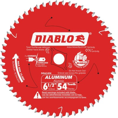 Diablo 6-1/2 In. 54-Tooth Aluminum Circular Saw Blade