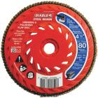 Diablo Steel Demon 4-1/2 In. x 5/8 In.-11 80-Grit Type 29 Angle Grinder Flap Disc with Hub Image 1