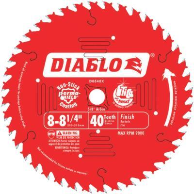 Diablo 8-1/4 In. 40-Tooth Finish Circular Saw Blade