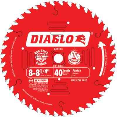 Diablo 8-1/4 In. 40-Tooth Finish Circular Saw Blade