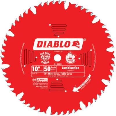 Diablo 10 In. 50-Tooth Combination Circular Saw Blade