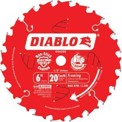 Diablo 6 In. 20-Tooth Framing Circular Saw Blade