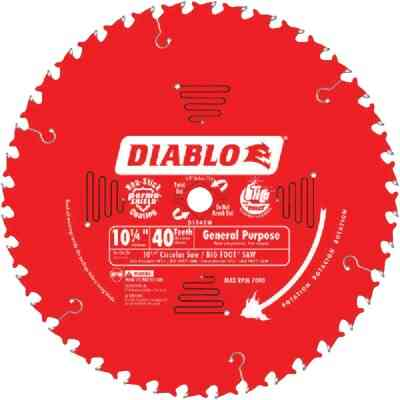 Diablo 10-1/4 In. 40-Tooth General Purpose Circular Saw Blade