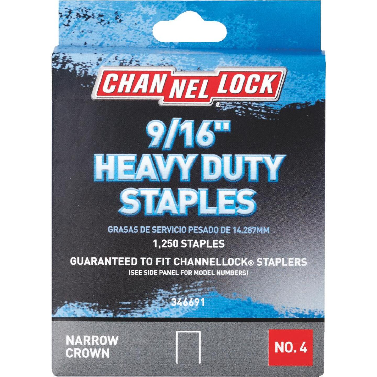 Channellock No. 4 Heavy-Duty Narrow Crown Staple, 9/16 In. (1250-Pack) Image 1