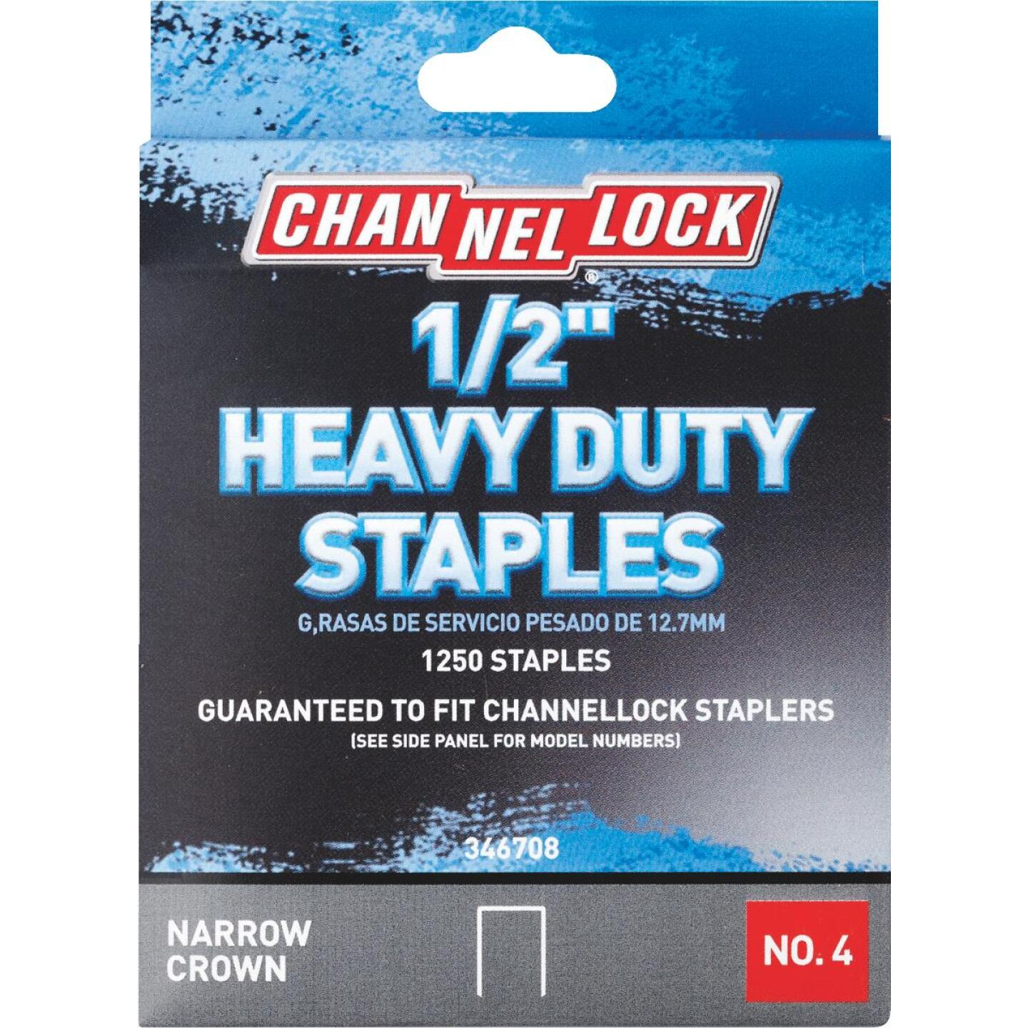 Channellock No. 4 Heavy-Duty Narrow Crown Staple, 1/2 In. (1250-Pack) Image 1