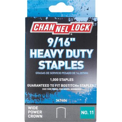 Channellock No. 11 Heavy-Duty Wide Power Crown Staple, 9/16 In. (1000-Pack)
