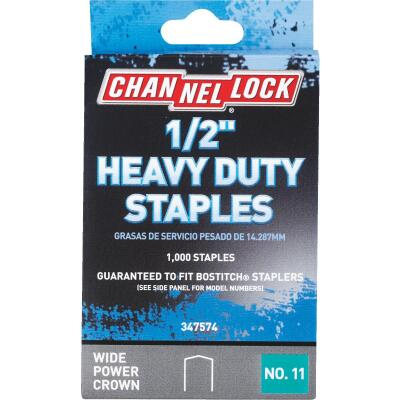 Channellock No. 11 Heavy-Duty Wide Power Crown Staple, 1/2 In. (1000-Pack)