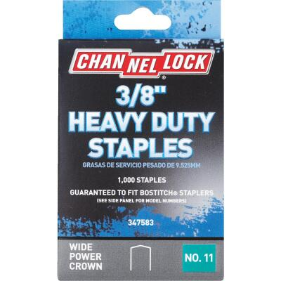 Channellock No. 11 Heavy-Duty Wide Power Crown Staple, 3/8 In. (1000-Pack)