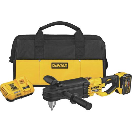 DeWalt 60 Volt MAX Lithium-Ion Brushless 1/2 In. In-Line Stud & Joist Cordless Drill Kit with E-Clutch System