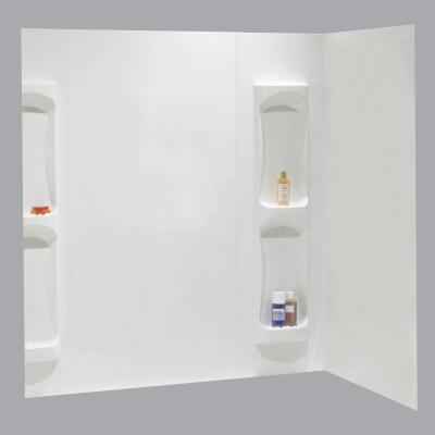 Maax Utah 5-Piece 59 In. H x 32 In. D Tub Wall Kit in White