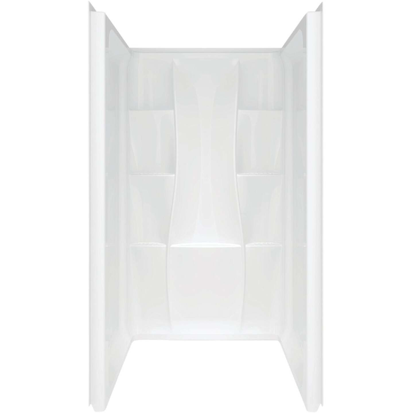 Delta Classic 400 3-Piece 36 In. L x 36 In. D Shower Wall Set in White Image 1