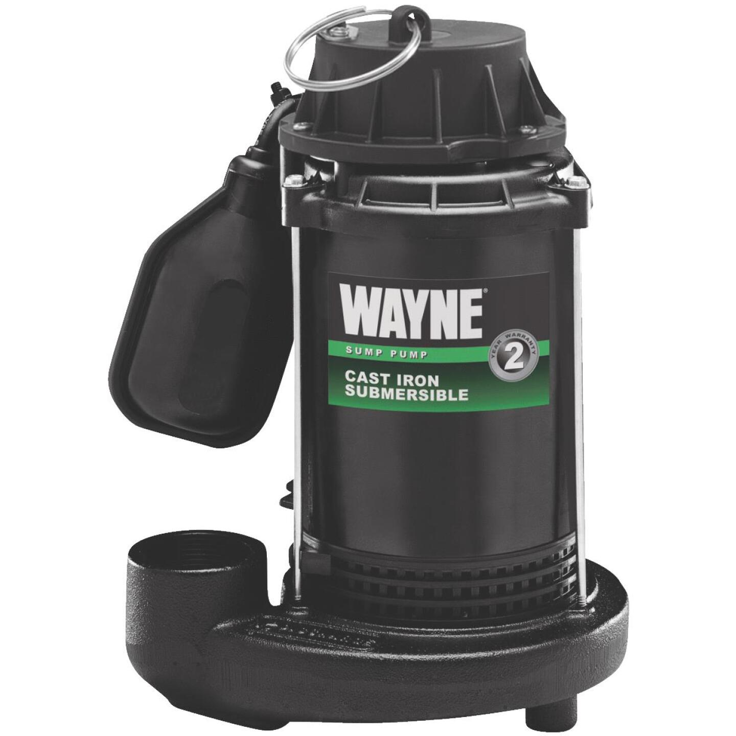 Wayne 1/2 HP 115V Cast-Iron Submersible Sump Pump Image 1