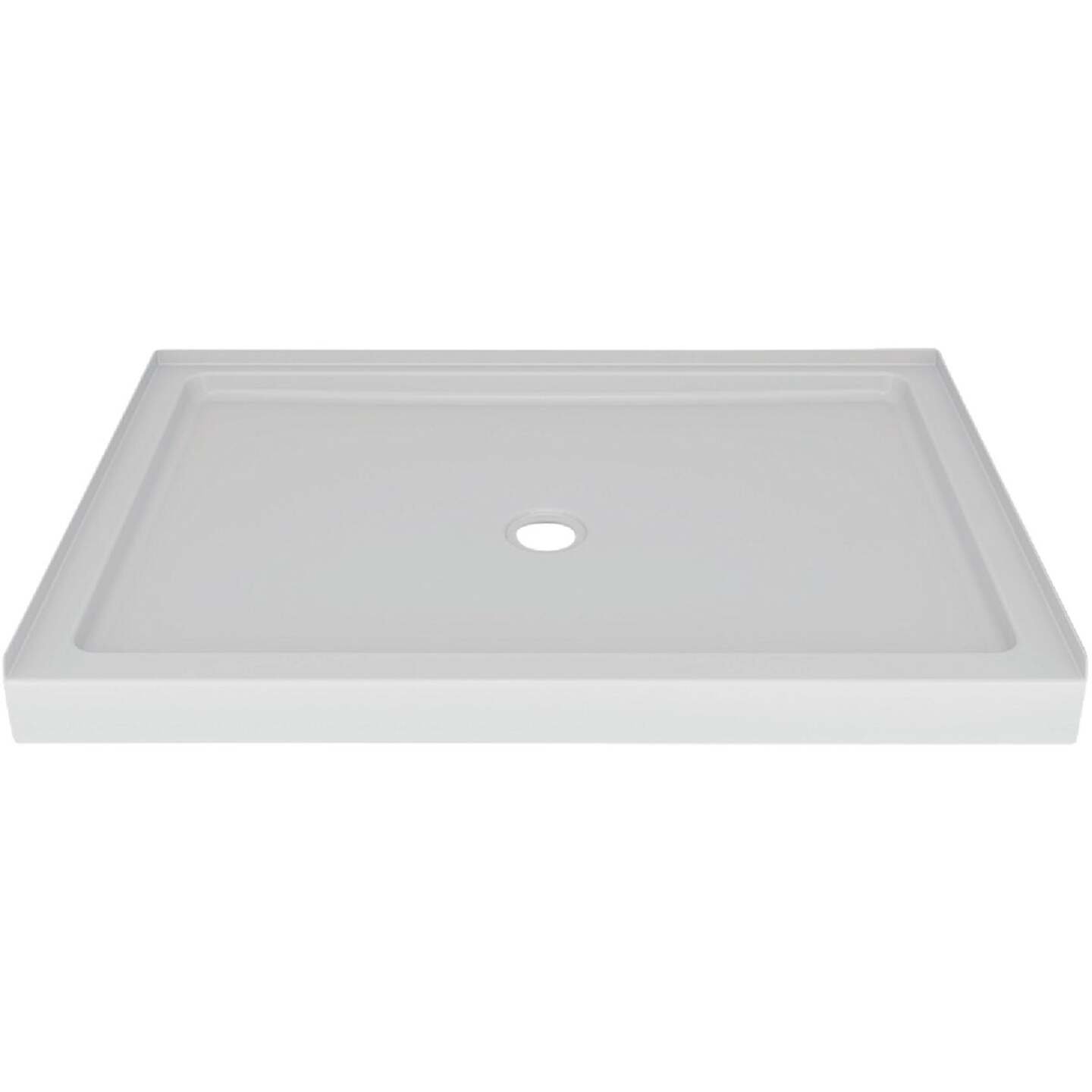 Delta Laurel 48 In. L x 34 In. D Center Drain Shower Floor & Base in White Image 1