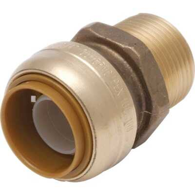 SharkBite 3/4 In. x 3/4 In. MNPT Straight Brass Push-to-Connect Male Adapter