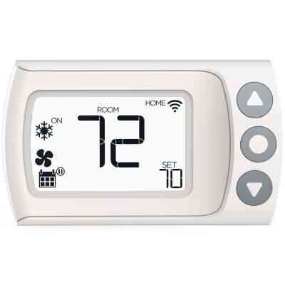 LUX Products CS1 WiFi Programmable White Digital Thermostat