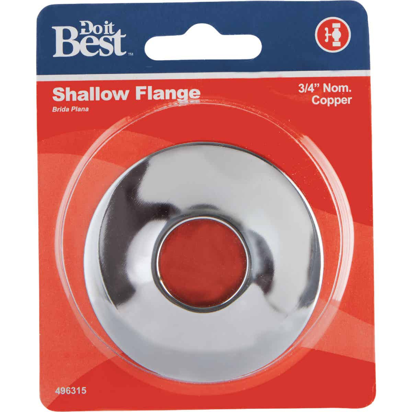Do it Best 3/4 In. CTS Chrome-Plated Shallow Flange Image 2