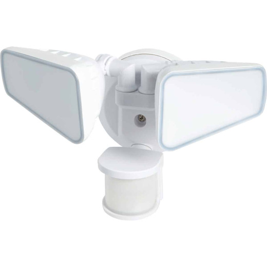 White Motion Sensing Dusk To Dawn LED Floodlight Fixture