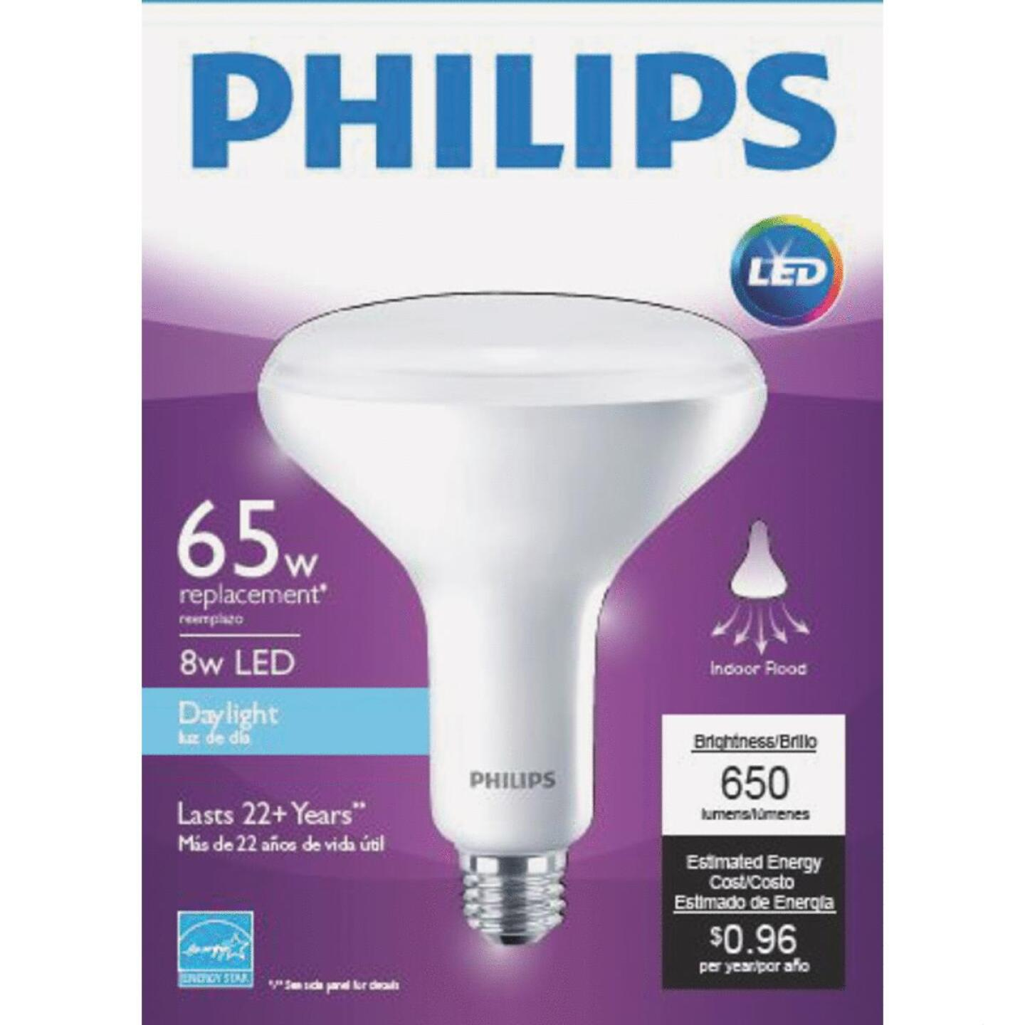 Philips 65W Equivalent Daylight BR40 Medium Dimmable LED Floodlight Light Bulb Image 2