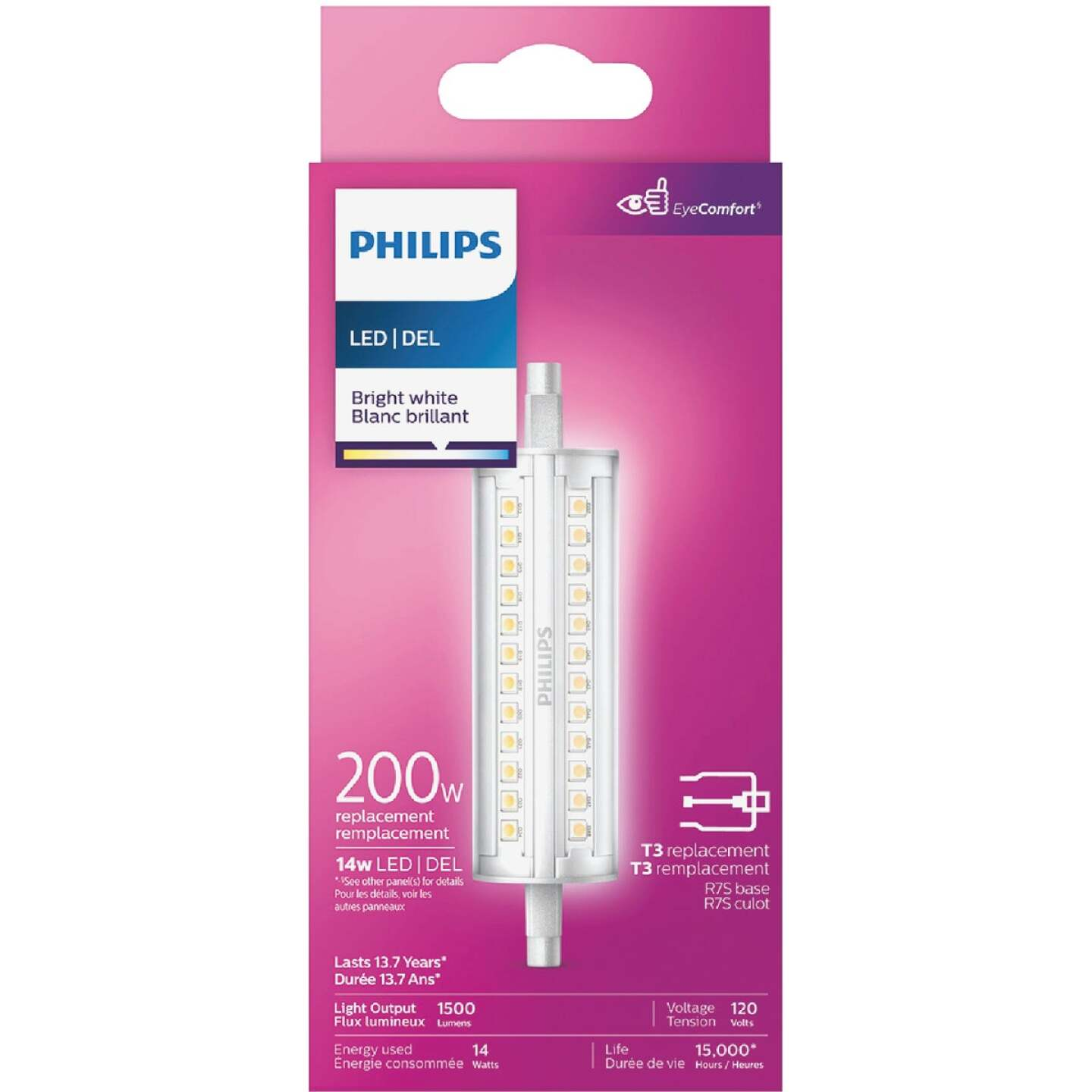 Philips 200W Equivalent Bright White T3 RSC Base LED Special Purpose Light Bulb Image 2