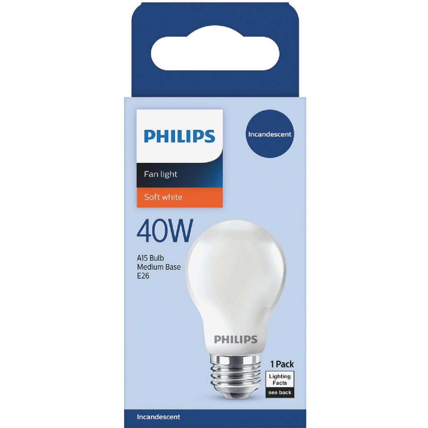 Philips DuraMax 40W Frosted Medium A15 Incandescent Ceiling Fan Light Bulb Image 2