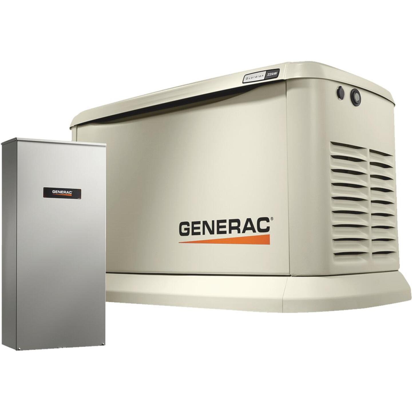Generac Guardian WiFi 19,500W Natural Gas/22,000W LP Home Standby Generator with 200A Automatic Transfer Switch Image 1