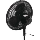Best Comfort 16 In. 3-Speed 38 In. to 49 In. H. Black Oscillating Pedestal Fan Image 4