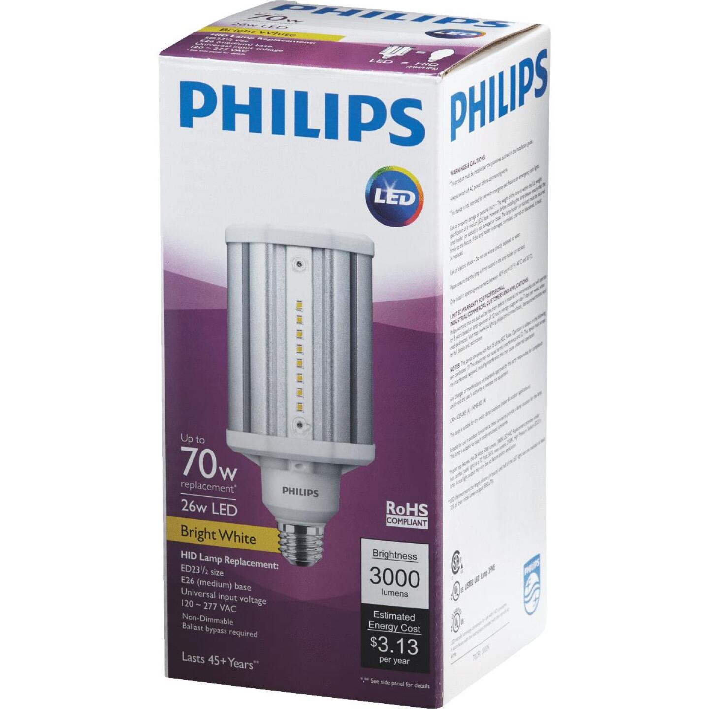 Philips TrueForce 26W Clear Corn Cob Medium Base LED High-Intensity Light Bulb Image 3