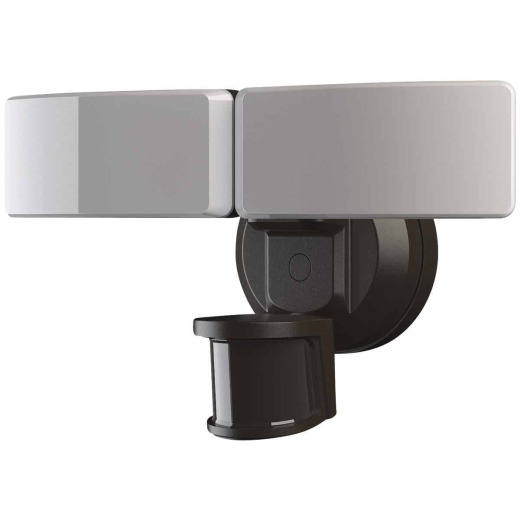 Bronze Motion Sensing Twin Swivel Head LED Floodlight Fixture