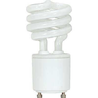 Satco 60W Equivalent Neutral White GU24 Base T2 Spiral CFL Light Bulb