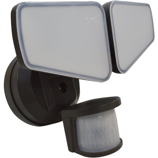 Bronze Motion Sensing Dusk-to-Dawn LED Floodlight Fixture