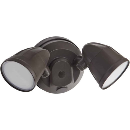 Bronze Twin Head LED Floodlight Fixture