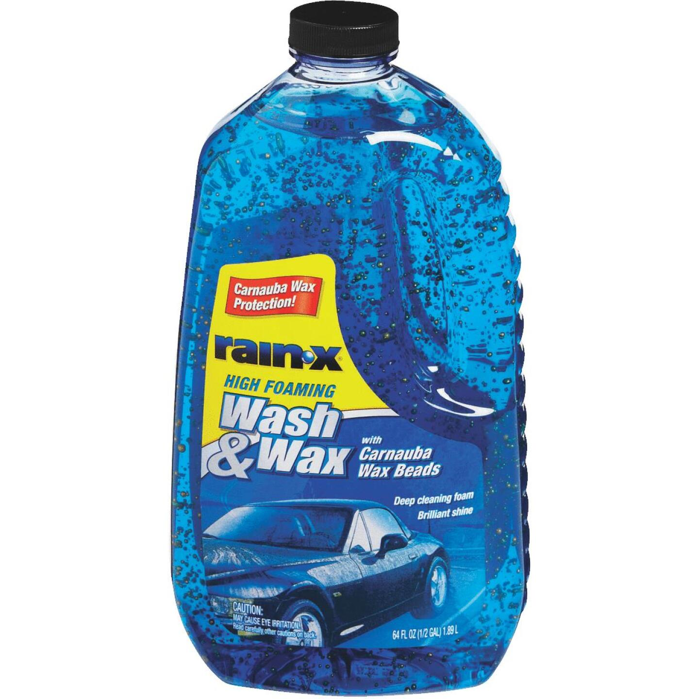RAIN-X 64 Oz. Liquid High Foaming Car Wash & Wax w/Carnauba Wax Image 1