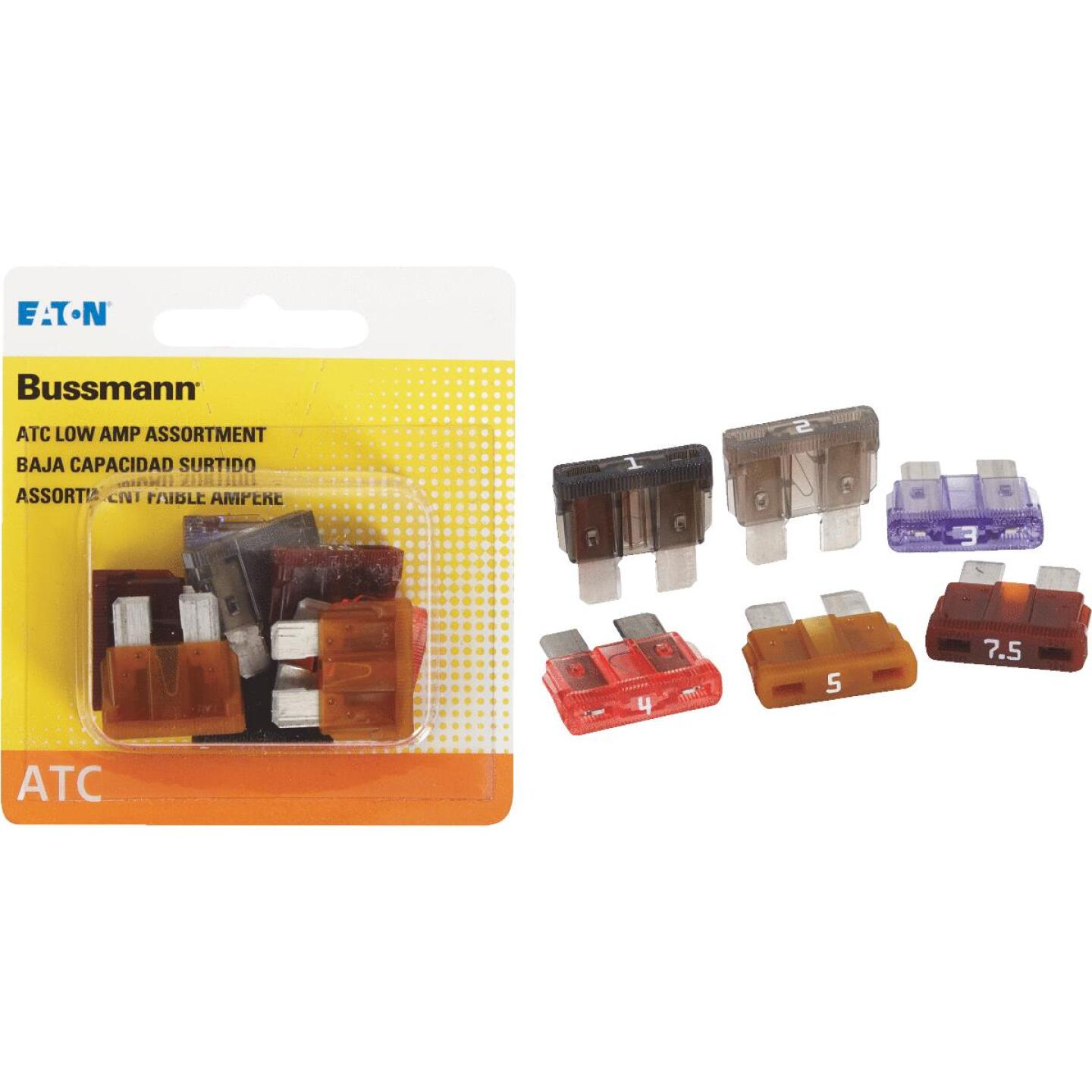 Bussmann ATC Low Amp Fuse Assortment (8-Piece) Image 1
